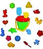 18-tlg.Sandkasten-Set, Sandspielzeug, Eimergarnitur für Kinder, Sandformen für Mädchen und Jungen, Happy Sand, Kinetic Sand