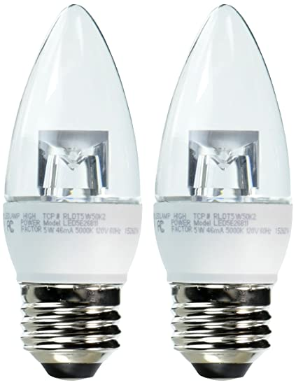 Tcp 40 watt equivalent 2 pack led clear chandelier light bulbs tcp 40 watt equivalent 2 pack led clear chandelier light bulbs dimmable aloadofball Gallery
