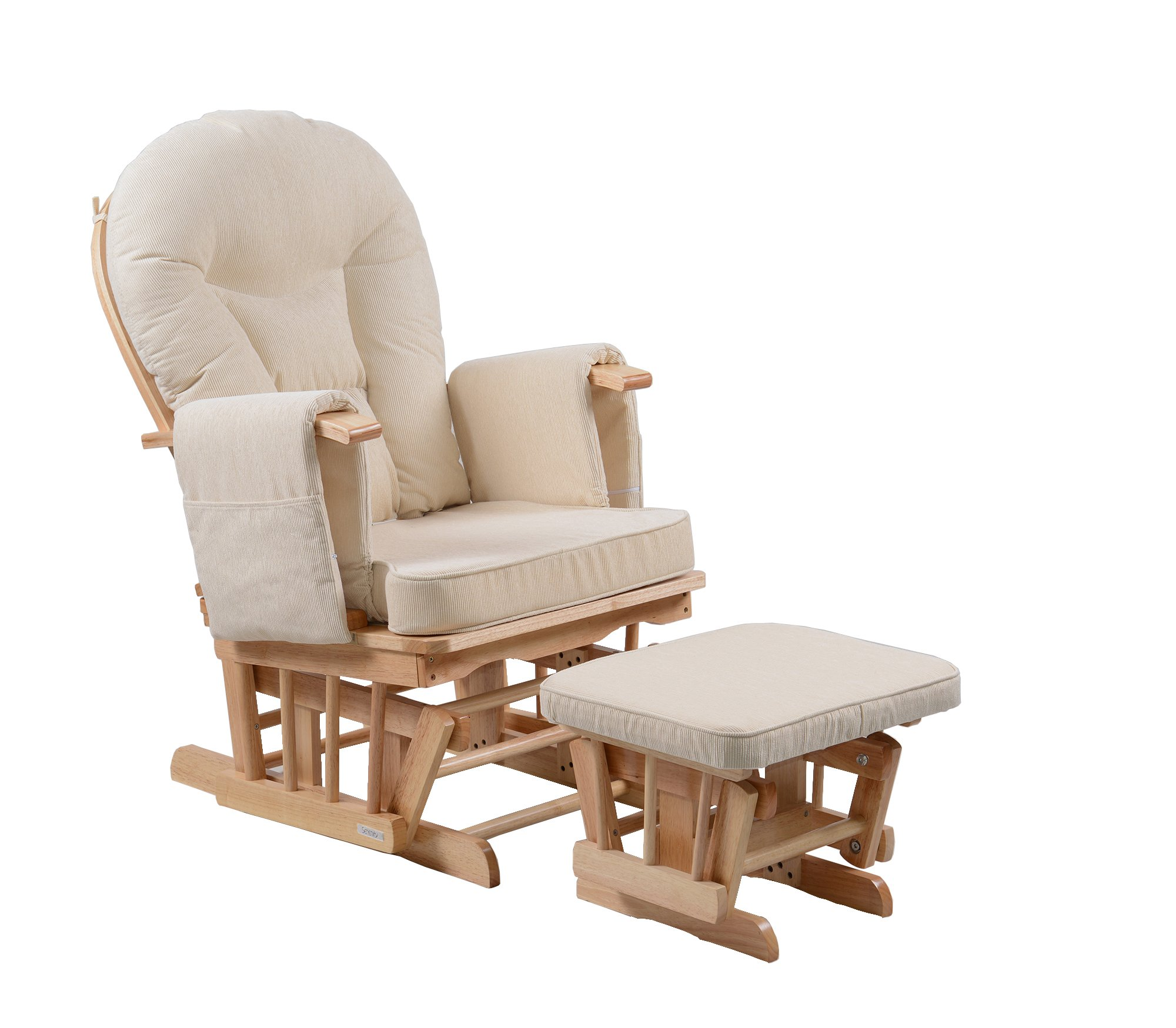Serenity Nursing Glider Maternity Chair with Footstool … (Natural)