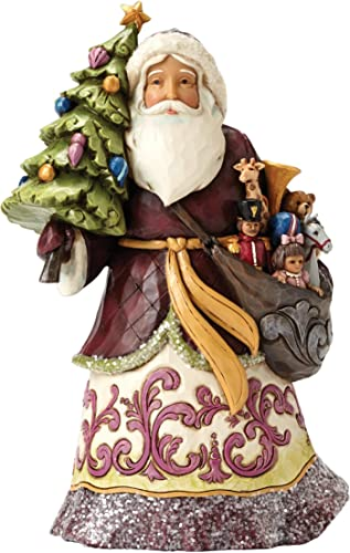 Jim Shore Heartwood Creek JS HWC Fig Vict Santa w Tree Figurine