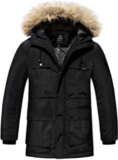 bb65c069cb3 Wantdo Men s Warm Winter Coat Parka Thicken Insulated Puffer Jacket with Fur  Hood
