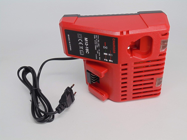 FengWings/® 18V M18 Reemplace los cargadores para Milwaukee 48-59-1812 48-59-1807 48-59-1806 48-59-1840 2710-20 Bater/ía de herramienta de iones de litio 220V