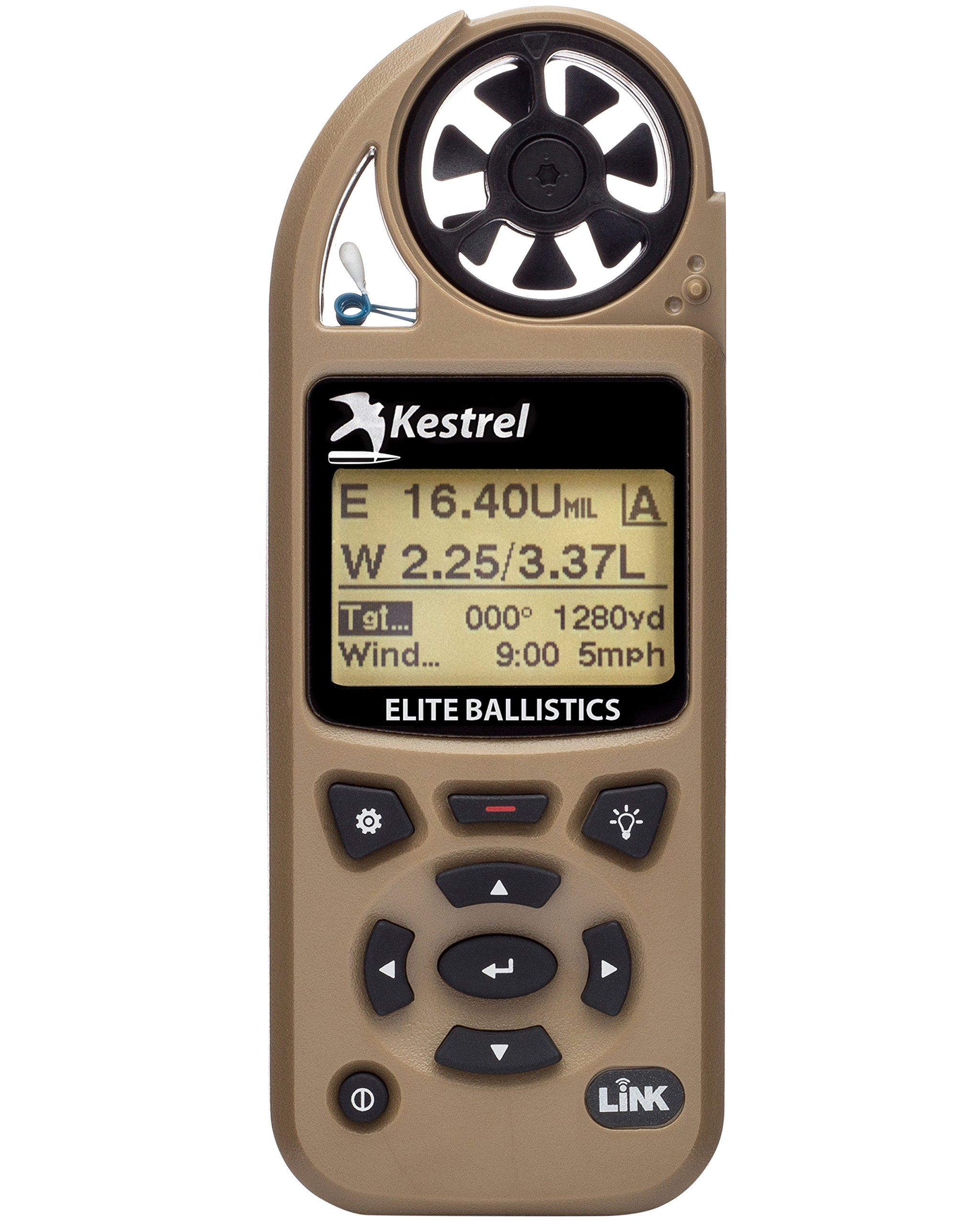 Kestrel 5700 Elite Weather Meter with Applied Ballistics and Bluetooth Link, Tan
