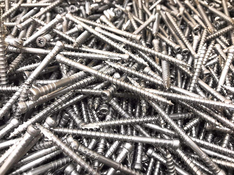 "10 Pounds GRK 2-1//2/"" x #8 RT Composite Stainless Trim-Head Screws T10 PHEINOX"
