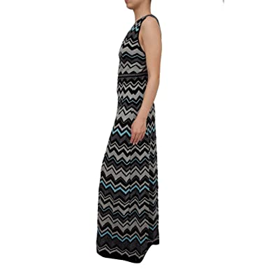 cfc715bd5483 Amazon.com  M Missoni Women s Lurex Zigzag Maxi Dress Black 44  Clothing