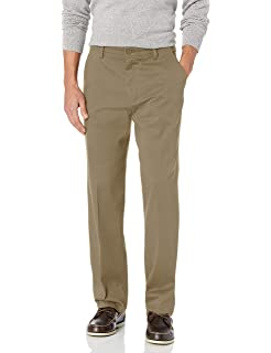 Dockers Mens Pacific On The Go Straight-Fit Flat-Front Pant 30W x 30L New British Khaki Lightweight - discontinued
