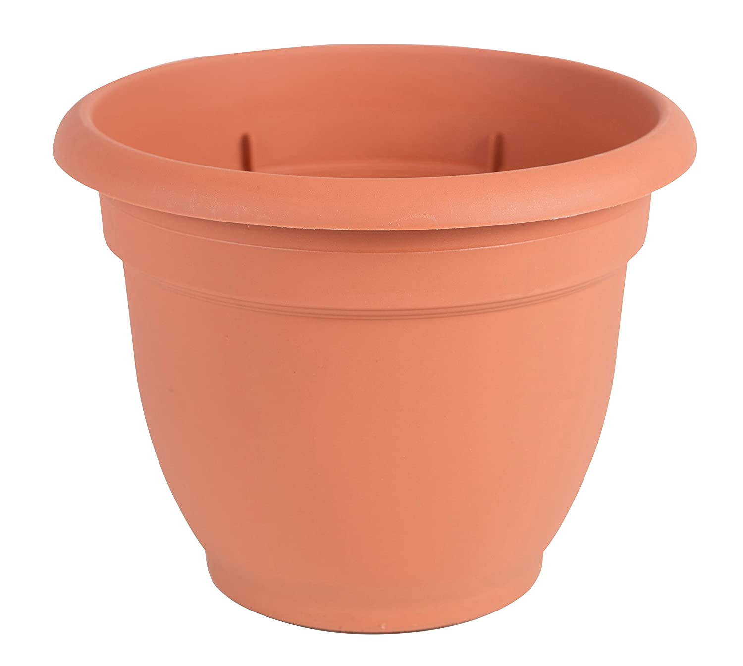 Bloem 20-56110 Fiskars 10 Inch Ariana Planter with Self-Watering Grid, Color Clay