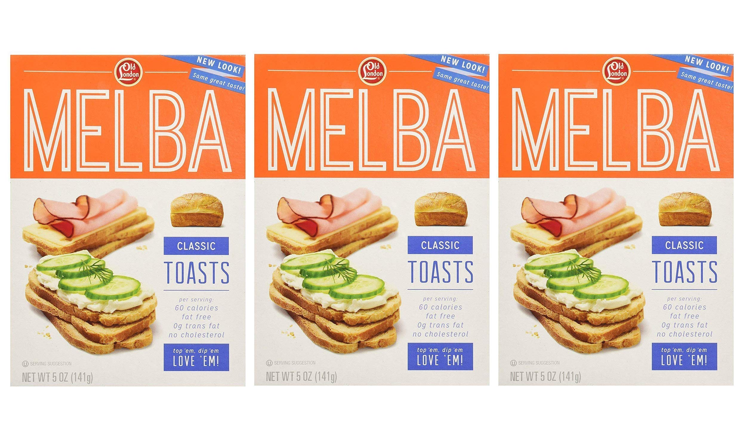 Old London Melba Toast Classic 5 oz (Pack of 3) by Old London