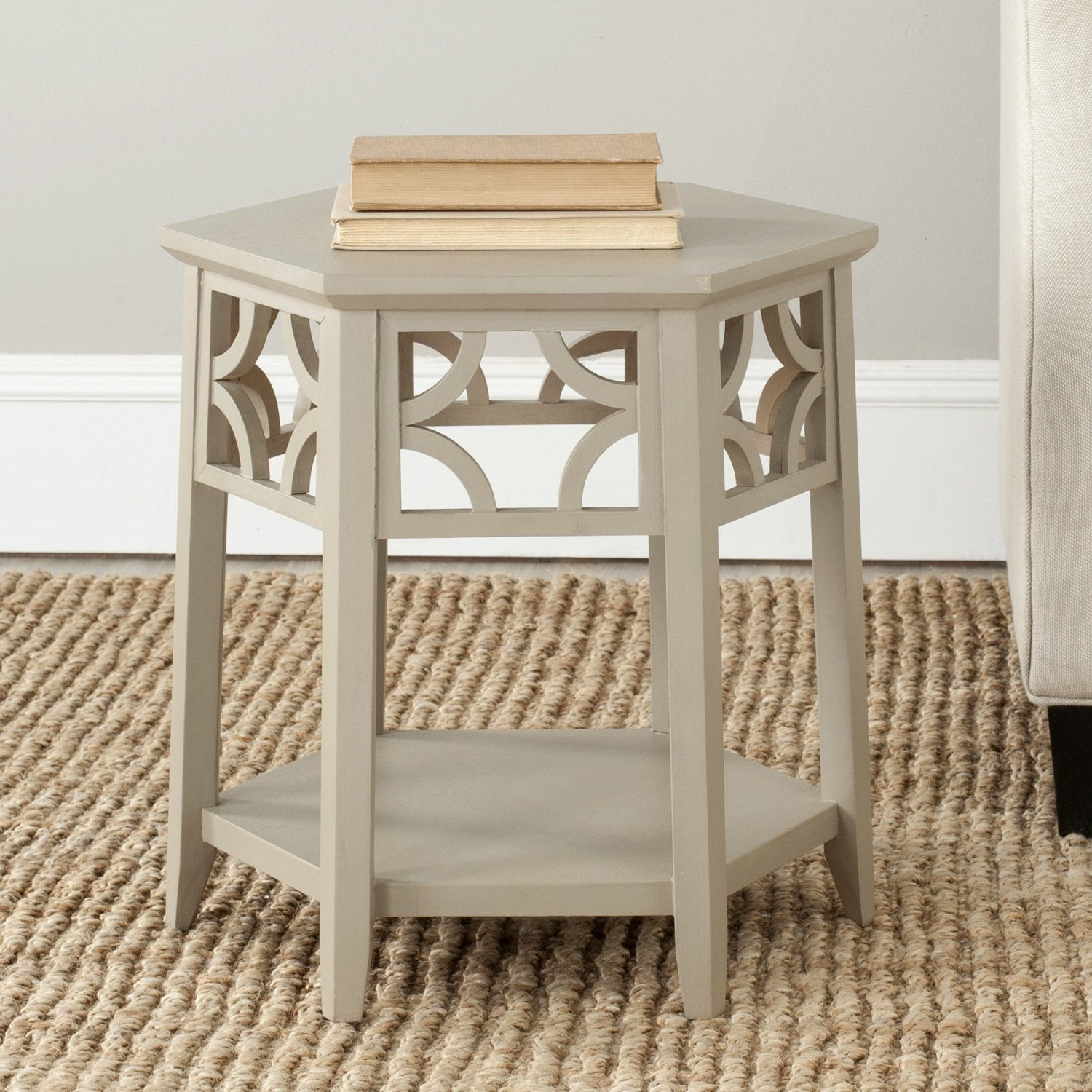 Superior Amazon.com: Safavieh American Homes Collection Connor Pearl Taupe Hexagon  End Table: Kitchen U0026 Dining