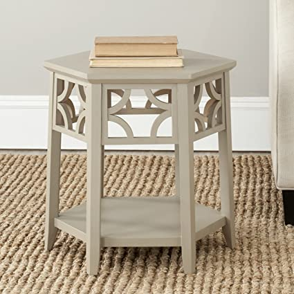 Delicieux Safavieh American Homes Collection Connor Pearl Taupe Hexagon End Table
