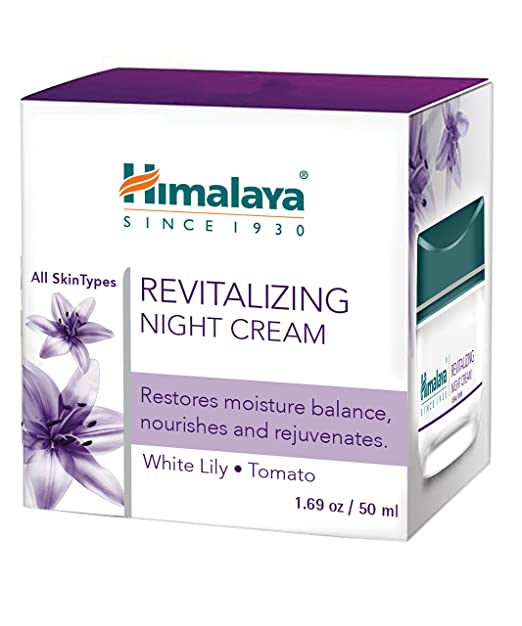 Himalaya Revitalizing Night Cream, Nourishes and Rejuvenates, 1.69 oz/50 ml