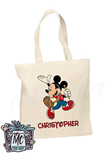 Image Unavailable. Image not available for. Color  Mickey Mouse Cotton Tote  Bags Custom ... 6e7e1f225