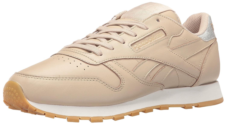 Reebok Women's Cl Lthr Met Diamond Fashion Sneaker B01GRWEA6E 10.5 B(M) US Oatmeal/Chalk/Gum