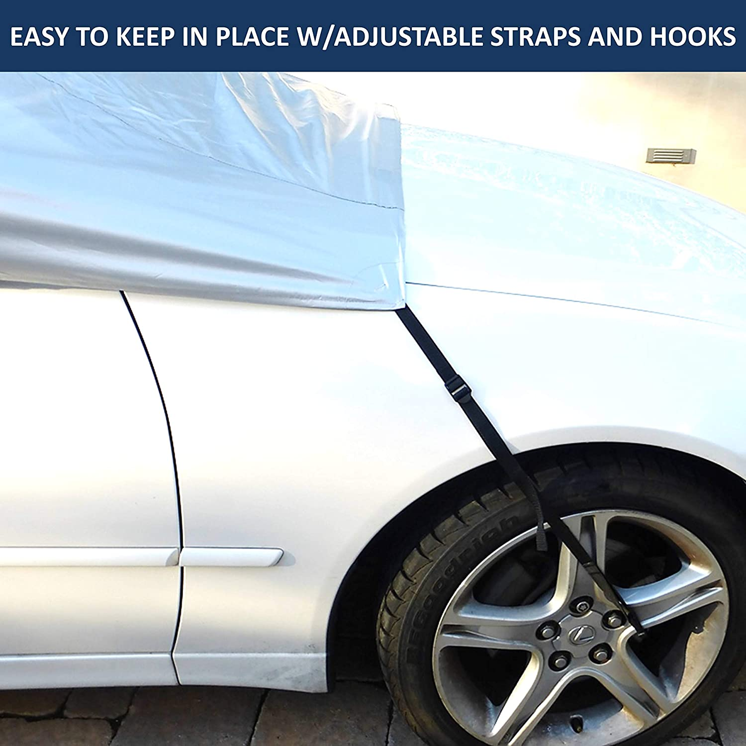 Ice Car Windshield Full Top Covers Back and Front No More Scraping Snow Fits Small to Mid-Sized Vehicles Leaves Keeps Your Car Cool from Harsh Sun