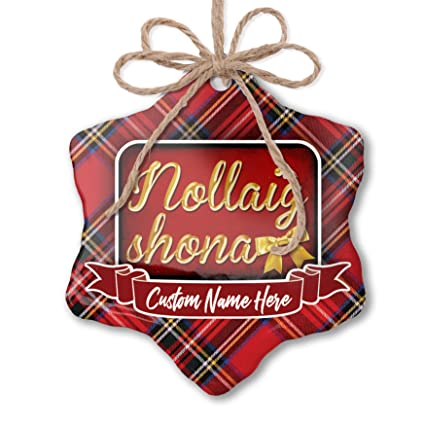 Merry Christmas In Irish.Amazon Com Neonblond Customizable Ornament Merry Christmas