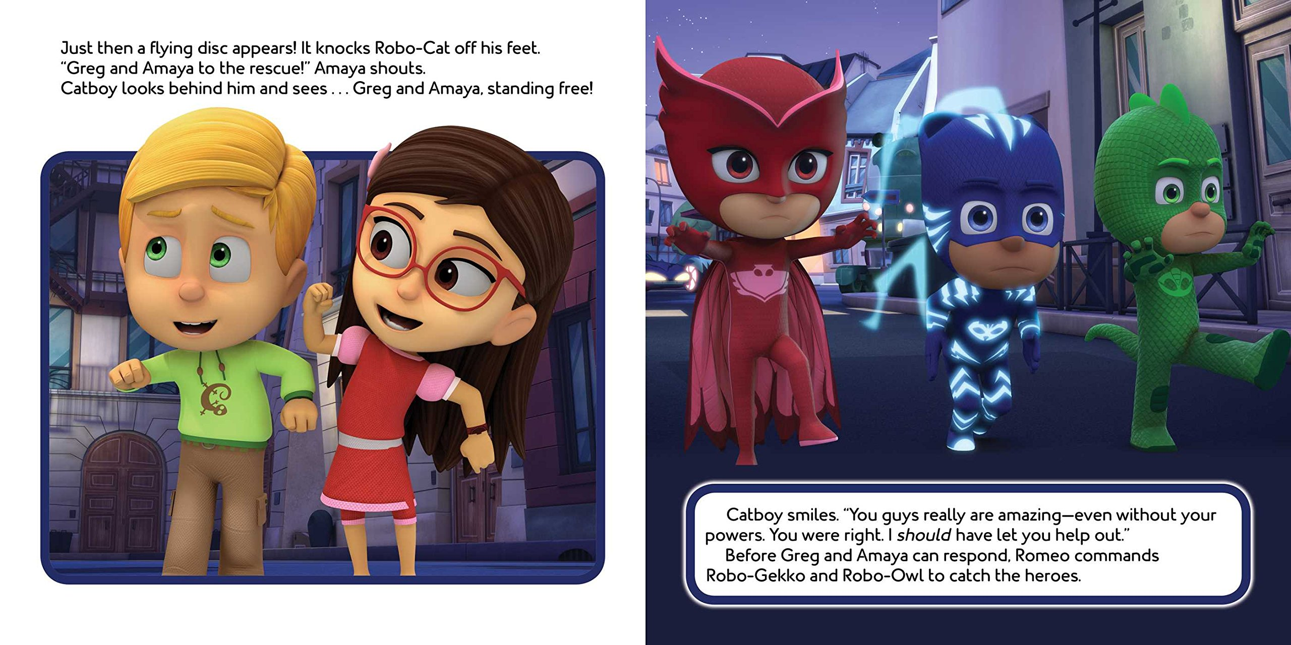 Into the Night to Save the Day! (PJ Masks) : Spinner, Cala ...