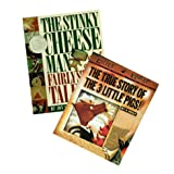 Children Story Book Set (2 Pack): The Stinky Cheese Man and Other Fairly Stupid Tales - The True Story of the Three Little Pi