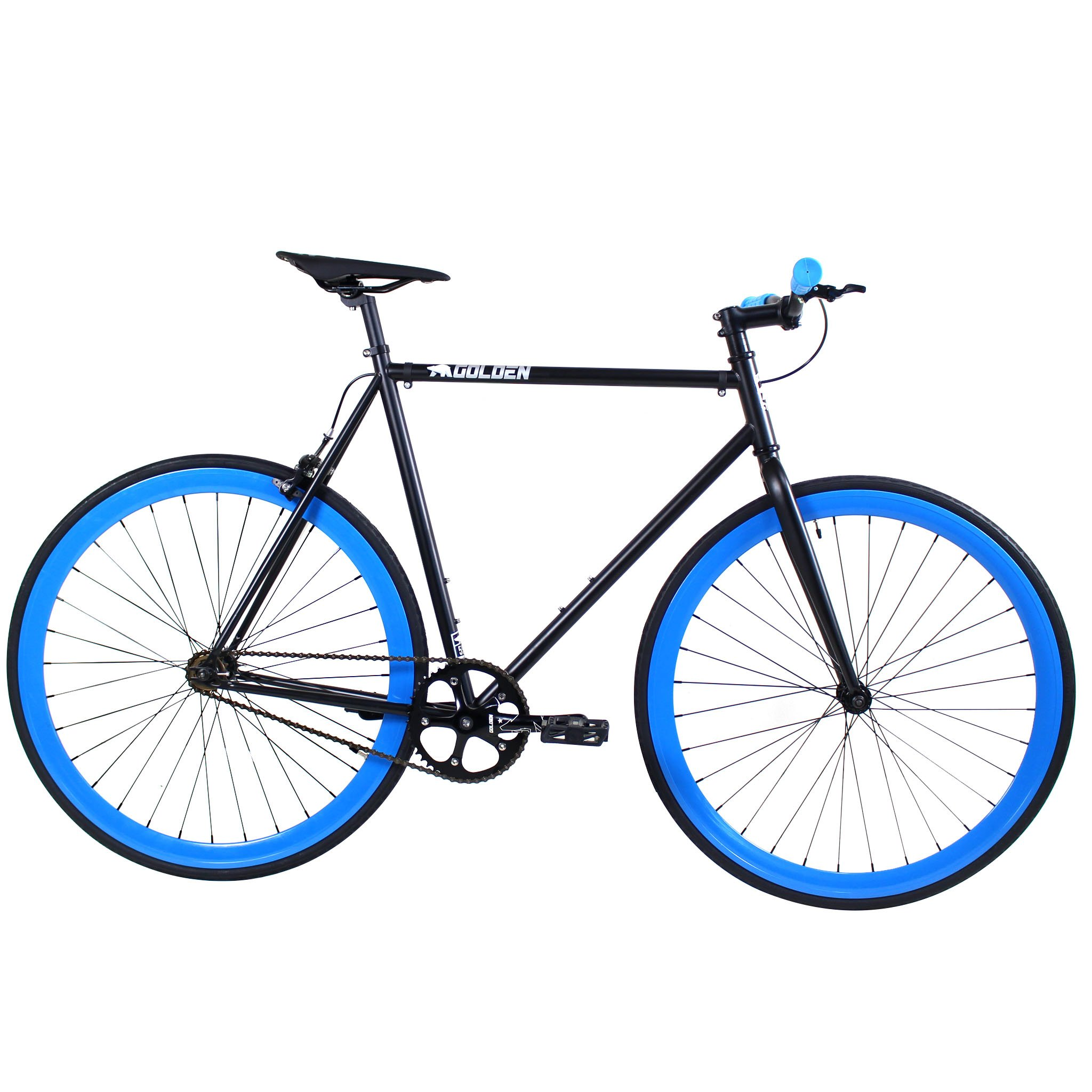 Golden Cycles Fixed Gear Bike Steel Frame Fixie with Deep V Rims-Collection (Magic, 52) by Golden (Image #1)