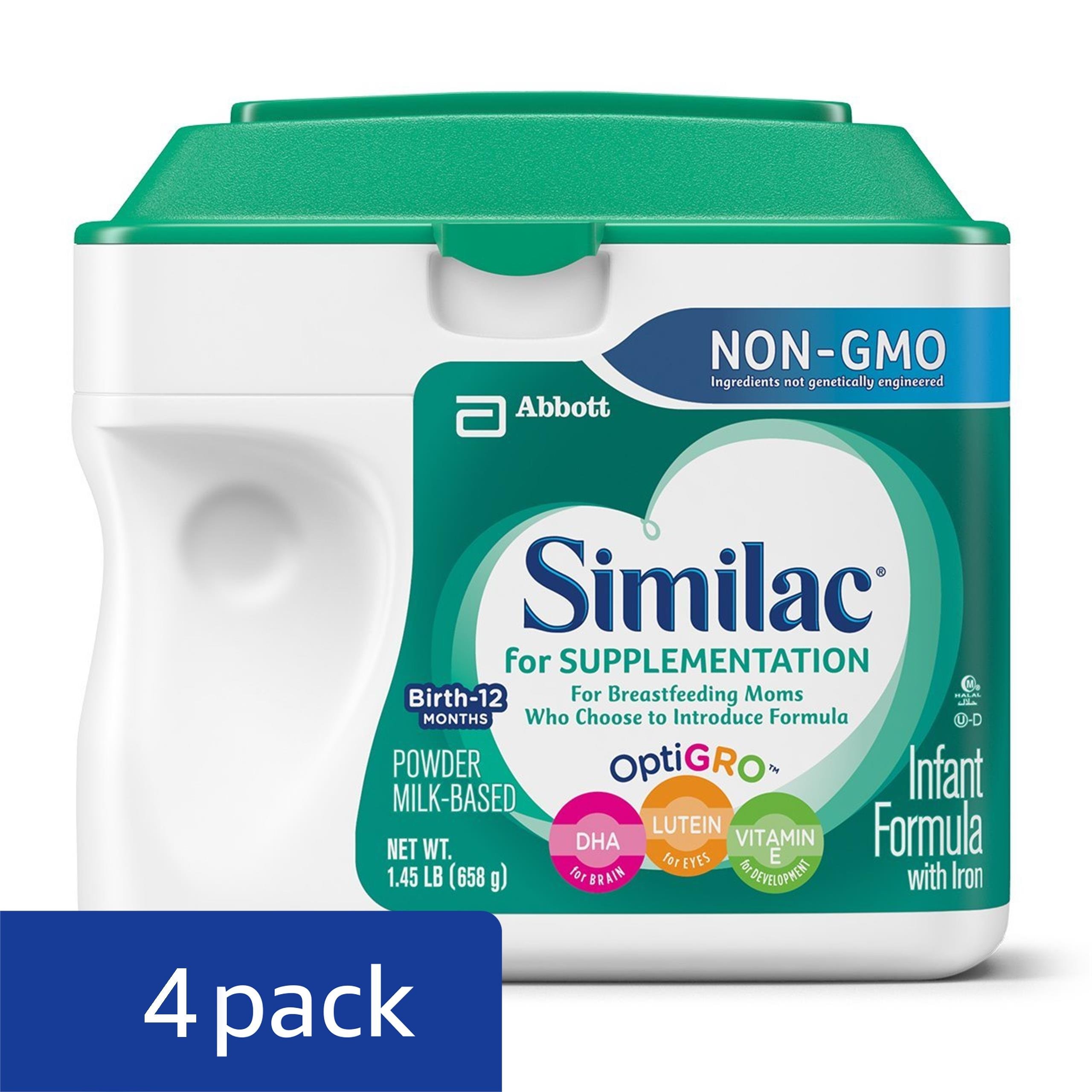 Similac For Supplementation Non-GMO Infant Formula with Iron, Powder, 23.2 Ounces (Pack of 4) by Similac (Image #3)