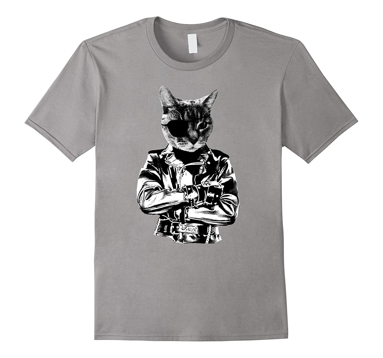 Badass Cat T-Shirt Funny Cat with Attitude-CL