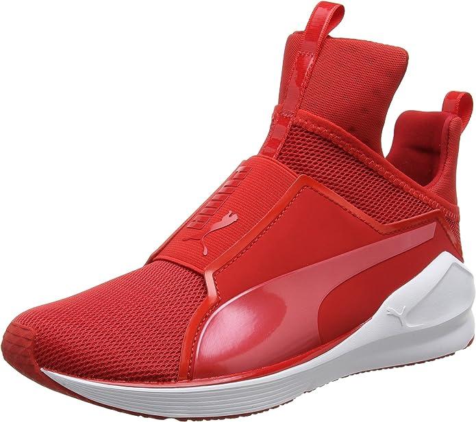 Puma Fierce Core Sneakers Trainingsschuhe Damen Rot mit Roten Streifen