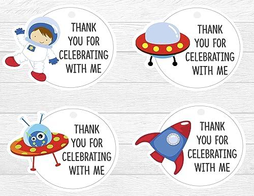 Amazon Com Astronaut Thank You Tags 12 Pcs Spaceship Baby