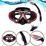 i-Sports Pro Schnorchel- und Masken-Setfür Erwachsene, wasserdicht, beschlagfrei und komfortabel für kristallklare Sicht,für Unterwasser-Entdeckungen