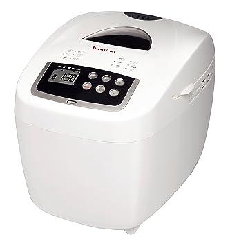 MOULINEX OW1101 - máquina de pan - Hasta 900 gr - 12 programas - Pantalla LCD - Blanco: Amazon.es: Hogar