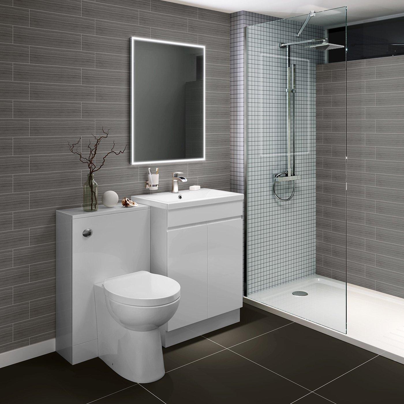 600 x 800 mm Designer Illuminated LED Bathroom Mirror Light Sensor Demister ML4002