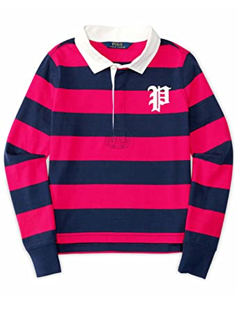 89a777a91 ... wholesale ralph lauren polo girls long sleeve stripe rugby shirt 2 2t  f1708 bcd79