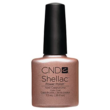 Amazon Cnd Shellac Nail Polish Iced Cappuccino 025 Fl Oz
