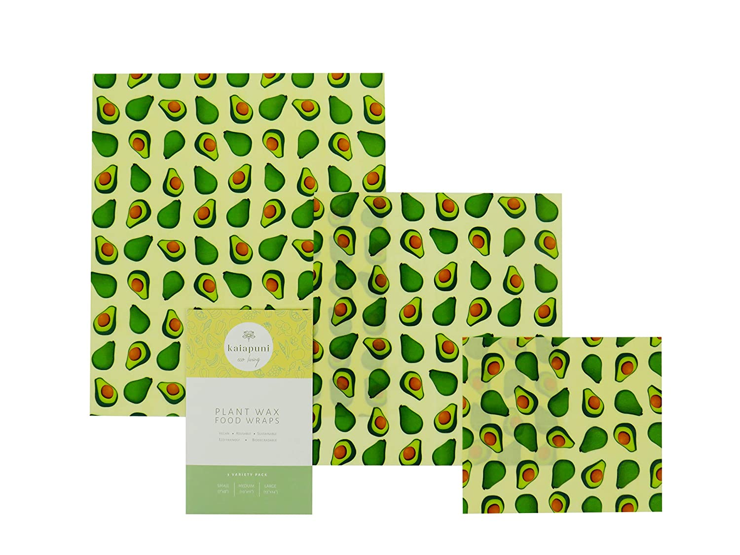 Vegan Reusable Wax Food Wrap No Beeswax Cling Film Alternative Waxed Paper For Food The Perfect Eco Friendly Gift Organic Cotton Set Of 3