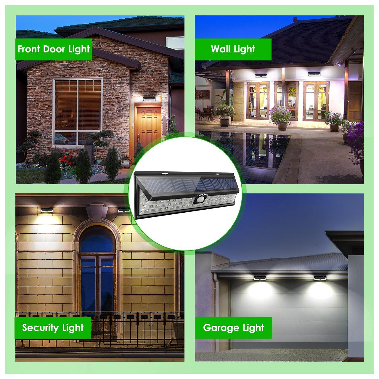 Litom Super Bright Solar Lights 54 LED Solar Power Outdoor Motion Sensor Light With LED on Both Side by Litom (Image #6)