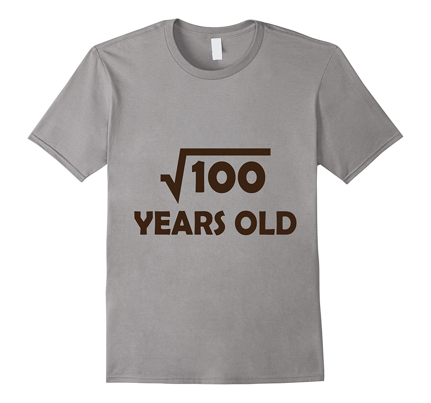 Birthday Shirt for 10 Year Old Boy or Girl 100 Square root-TH