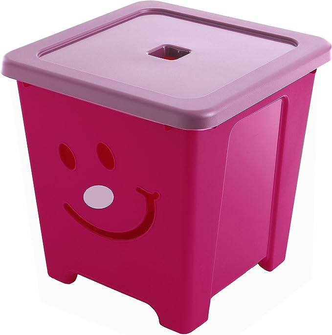Sundis Violet Happystore Fucsia-Caja Infantil con Cara Sonriente ...