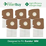 6 Eureka Type MM Mighty Mite & Sanitaire High Efficiency Allergen Bags. Designed by FilterBuy to Replace Eureka Part #'s 60297A, 60295, 60296, 60297, 60295B.