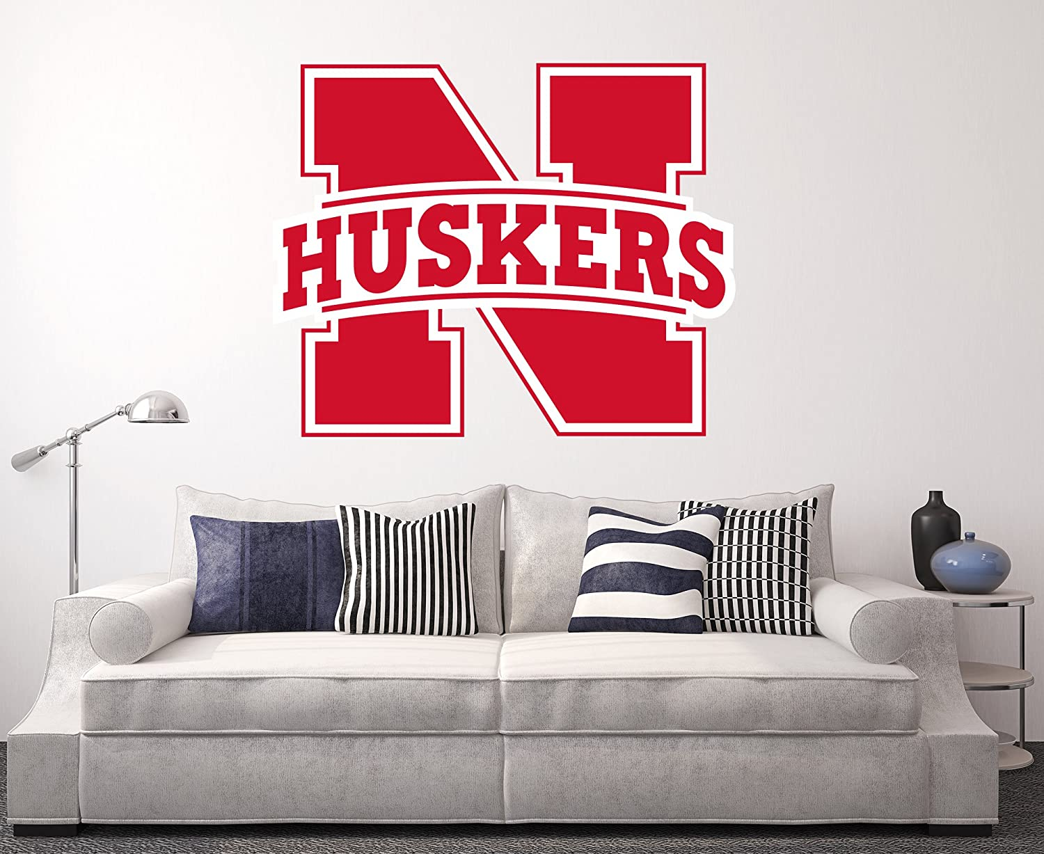 West Mountain Nebraska Cornhuskers Wall Decal Home Decor Art NCAA Team Sticker