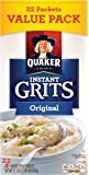 Quaker Instant Grits, Original, Value Pack, 22 Packets
