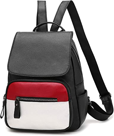 School Style Women Backpack Leather Bag for Girls College Simple Design Women Casual Daypacks Female Tote