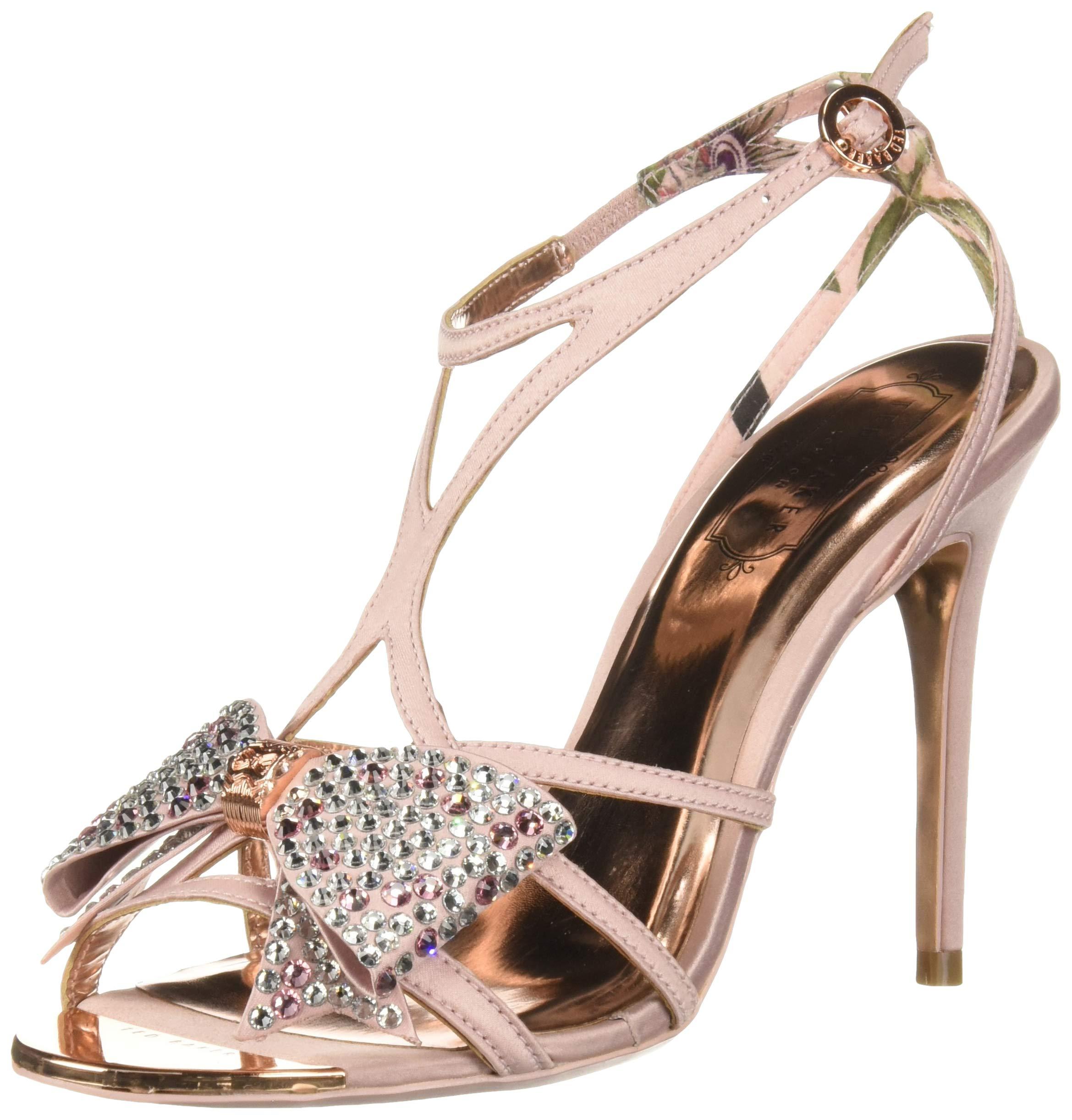 Ted Baker Women's Arayi Heeled Sandal, Pink Blossom, 6.5 Regular US by Ted Baker