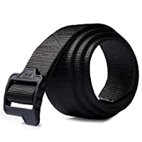 Tactical BELT Double Duty Thick Military Police Men's Nylon Black Plastic Buckle