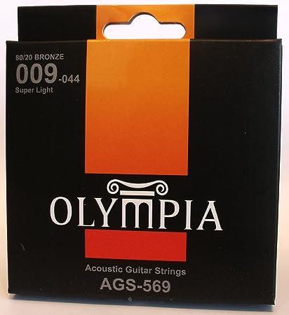 Olympia de la calidad de las cuerdas de la guitarra acústica 09-44 ...