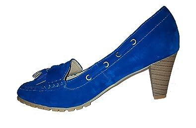 dc0f2c3f74a2 Topmodische Pumps High Heels Mokassins in Samtoptik. Damenschuhe, Schuh für  Damen. Topaktueller Trendschuh