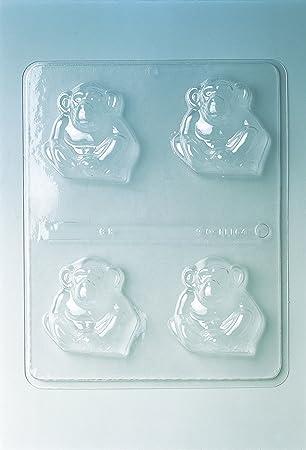 Molde para Chocolate con Forma de 4 Monos.