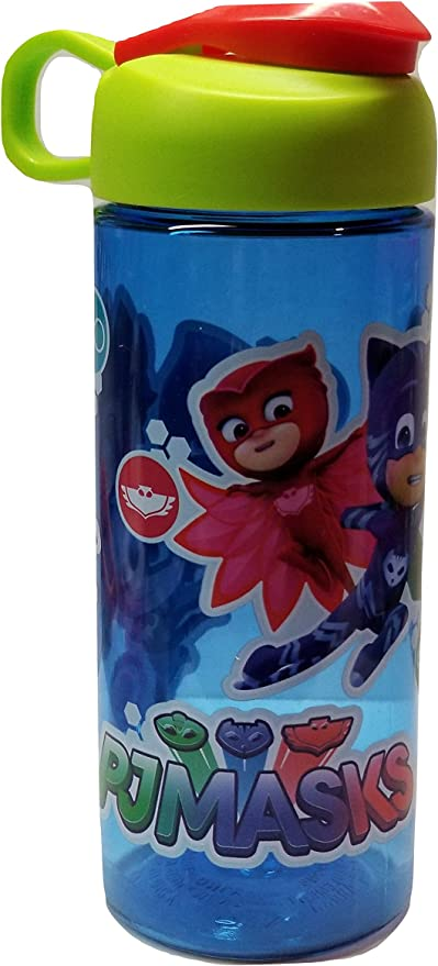 Pj Masks-Gekko, Catboy y Owlette - Botella de agua azul de 40,6 ml