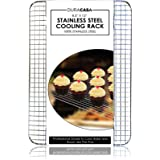 "Baking Rack - Cooling Rack - Stainless Steel 304 Grade Roasting Rack - 8.5"" X 12"" - Heavy Duty Oven Safe, Commercial Quality Cooling Racks For Baking - Metal Wire Grid Rack Design"