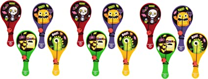 Halloween Paddle Ball (12-Pack)