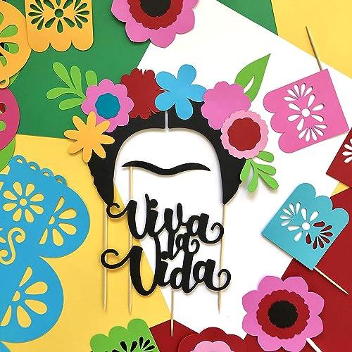 Frida Kahlo Cupcake Toppers