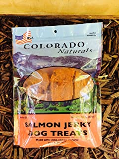 product image for Colorado Naturals Wild Caught Salmon Jerky Dog Treats. Made in USA with 100 Percent U.S.D.A. Grade Salmon. 16 Ounce