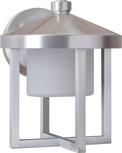 Craftmade Z9214-SA-LED Alta Outdoor LED Wall Lantern, Satin Aluminum 1-Light 8 W x 9 H 9 Watts